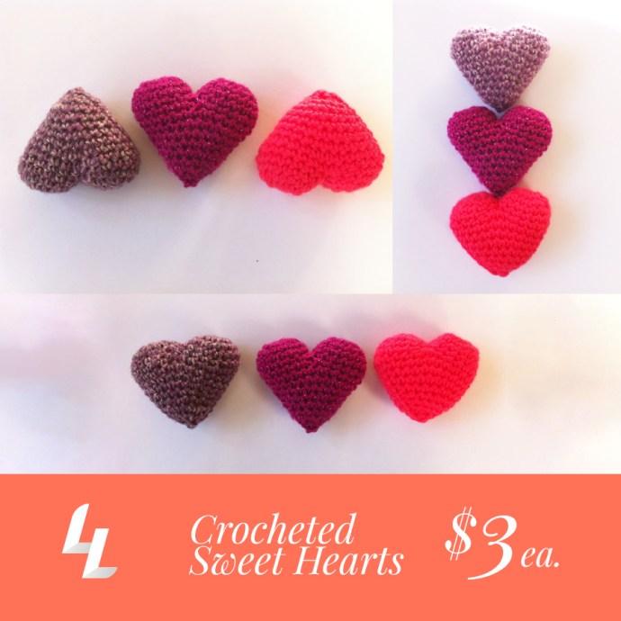 crocheted sweet heart
