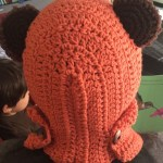 coral star wars ewok scarf hood (scoodie) back view