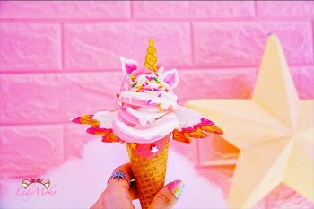 Uni Cone魔法棒冰淇淋,台北中山浮誇夢幻獨角獸霜淇淋