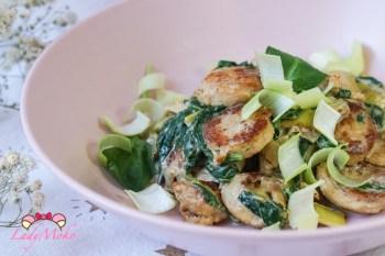 低醣飲食 西式料理食譜 奶油香煎白腸燉椰奶蔬菜(有影片)