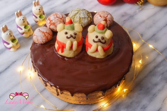 法式海鹽焦糖巧克力慕斯蛋糕食譜|類似歐貝拉Opéra作法/Bavaroise au Chocolat+Mousse au Caramel+Croustillant+Glaçage