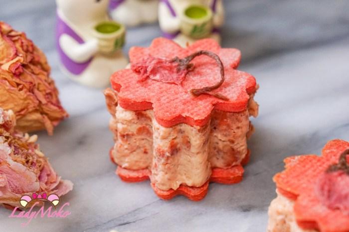 櫻花草莓乳酪夾心餅乾食譜|免烤草莓乳酪蛋糕/凍乾草莓/無生蛋製作小技巧