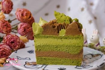 焙茶抹茶戚風夾心蛋糕食譜|抹茶戚風蛋糕+焙茶Diplomate+抹茶巧克力慕斯