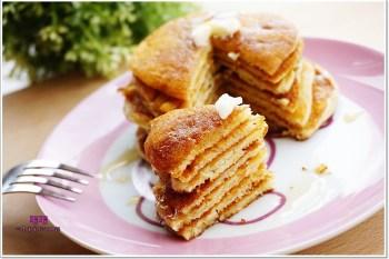 食譜 》熊熊煎鍋鬆餅pancake VS 疊疊樂鬆餅塔