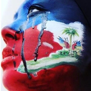 Une haitienne en pleur