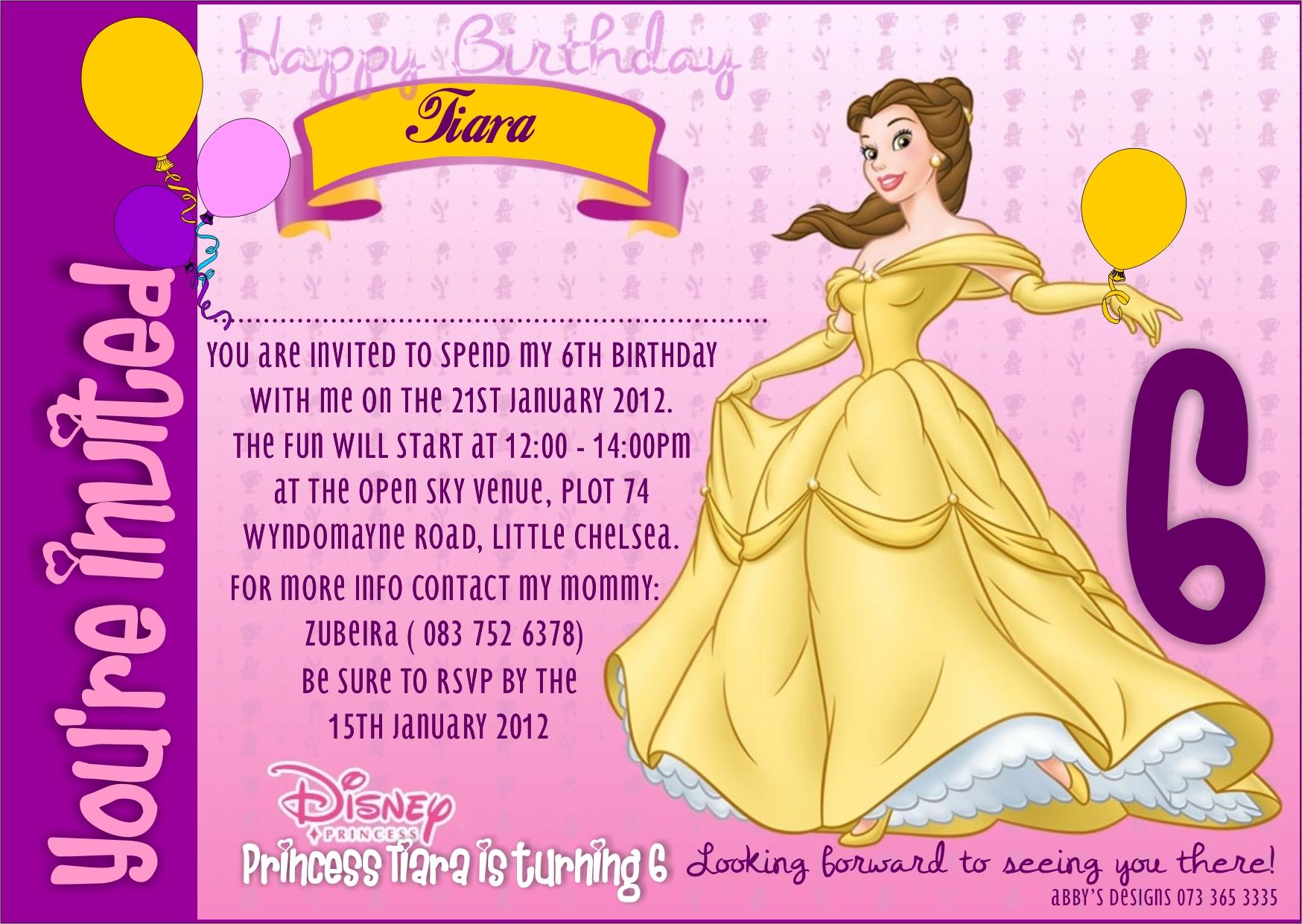 6th birthday party invitation ladymud