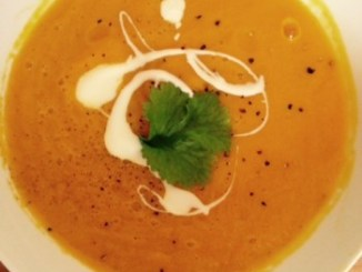 Carrot, Coriander and Orange Soup