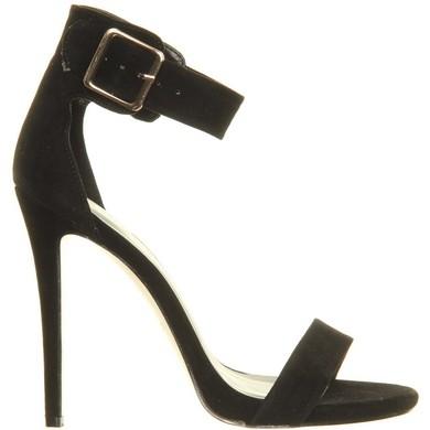Black suedette sandals LadyNicci.com