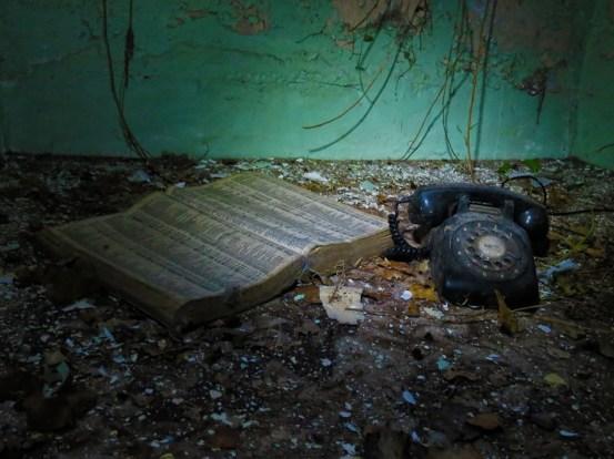 phone book and phone derelict ireland
