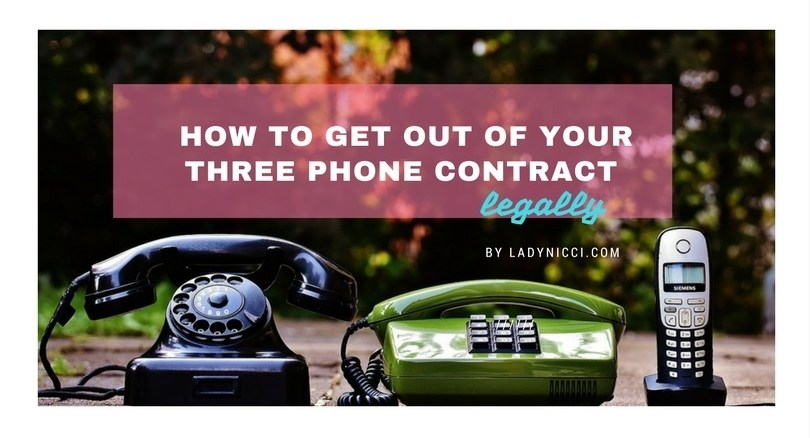 How to get out of your Three phone contract legally