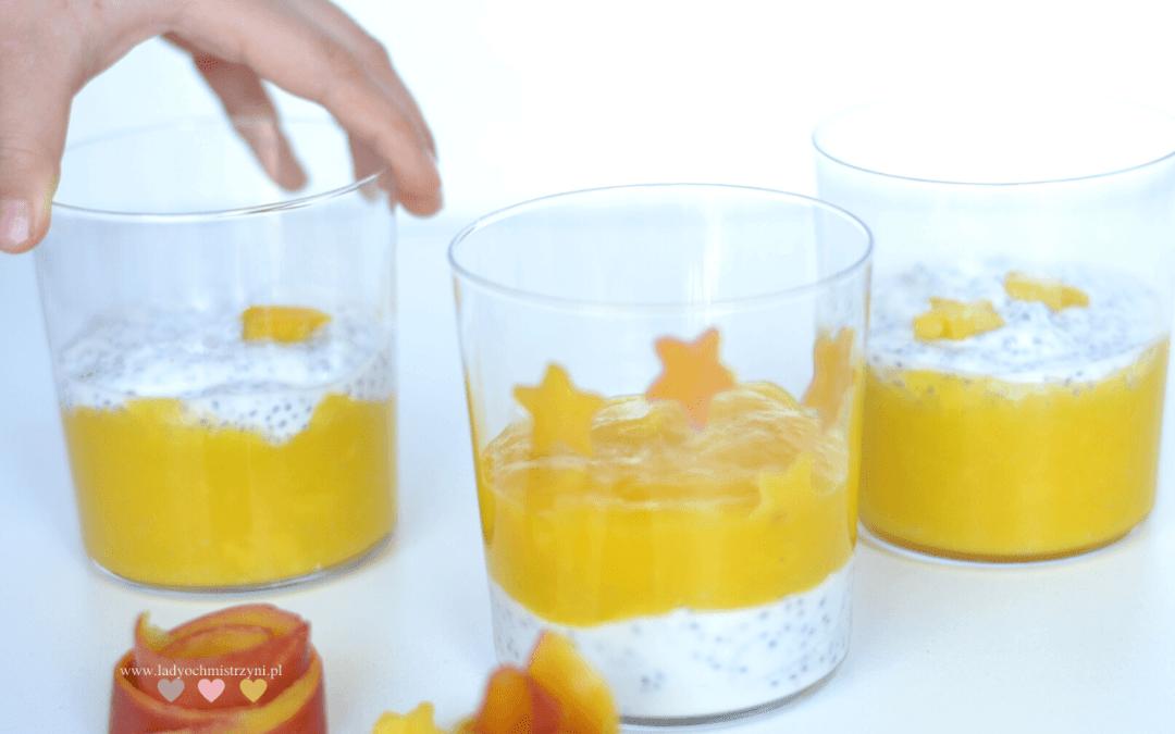 Pudding chia z mango dla dzieci BLW