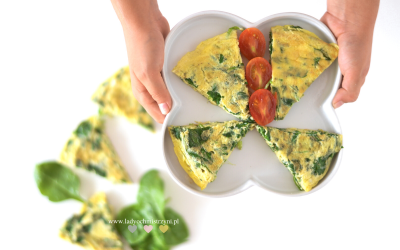 Omlet ze szpinakiem dla dzieci BLW