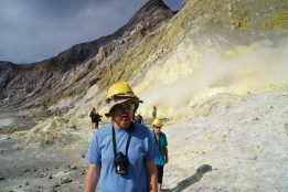 Ian choking on some sulfur steam.