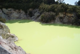 The Green Pools- they are actually this green in real life. Gross.