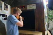 Ian trying his hand at the range
