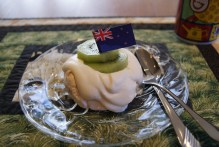 Pavlova with Kiwi was on the menu for our tea. It was fantastic.