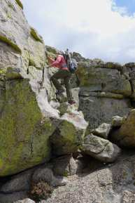 Finding a way up Taylor Dome