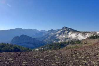 View of Crystal Crag and Duck Pass from Mammoth Crest