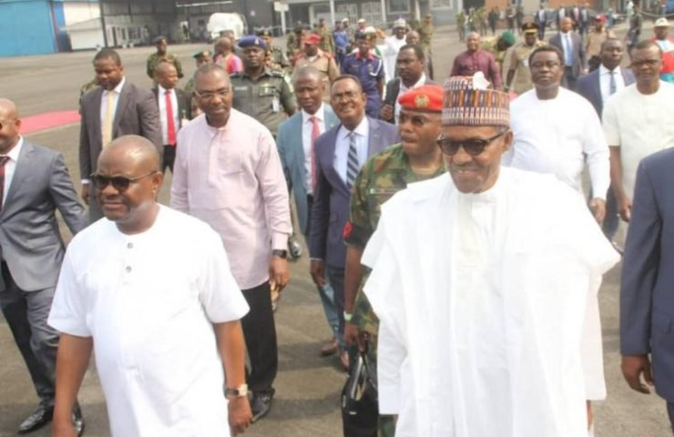 Governor Nyesom Wike Welcomes Buhari in Port Harcourt 1