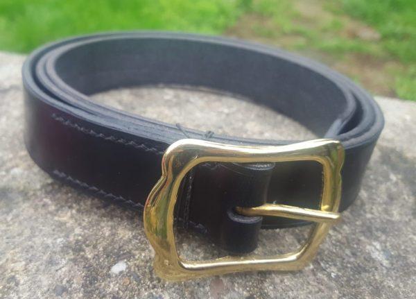 Brass Crown Buckle Belt