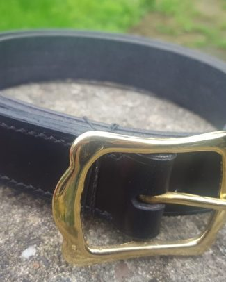 Brass Crown Buckle Belt