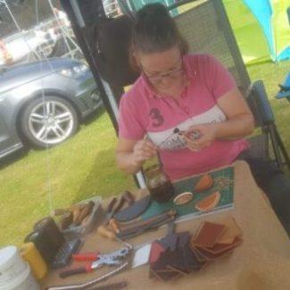 Hand stitching at Enville Village Show
