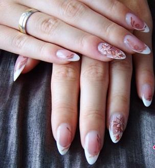 ногти миндальной формы дизайн 5