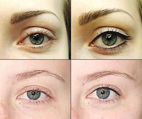 Татуаж с растушевкой глаз. Фото до и после, естественный ...