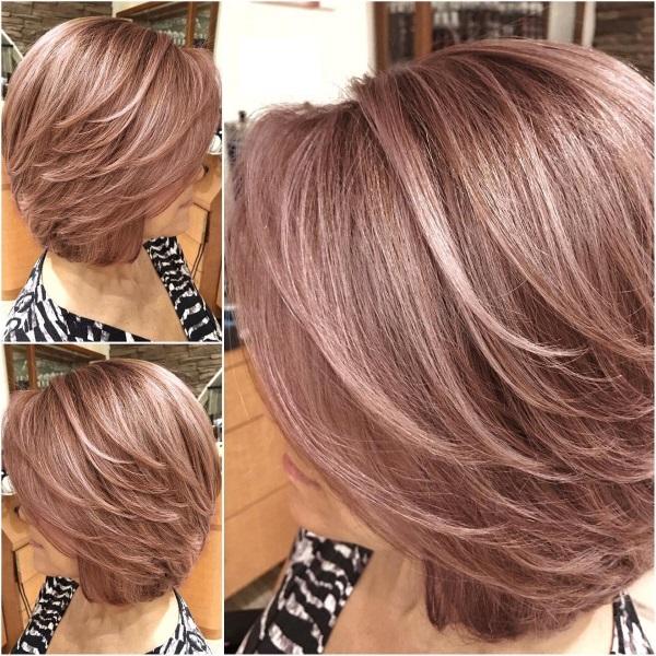 Каскад на средние волосы: как стричь, укладывать. Фото ...