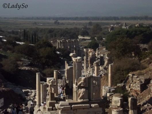 Une partie des ruines