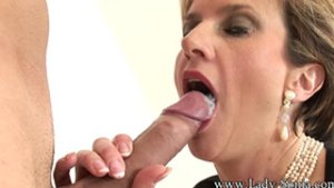 Swallowing A Big Load From My Toyboy