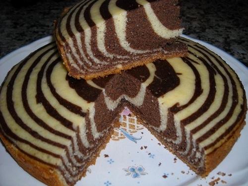 Торт зебра в мультиварке   LS