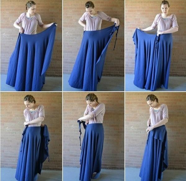 Юбка с запахом: простая выкройка. Как сшить юбку с запахом ...
