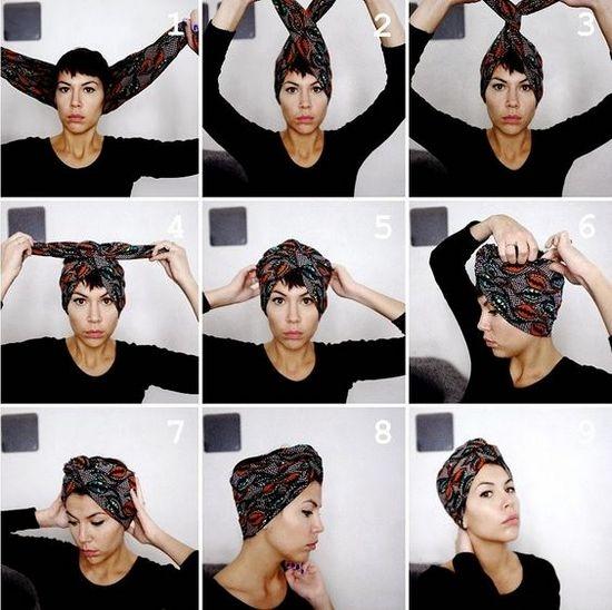 Как красиво завязать шарф на голове? | LS
