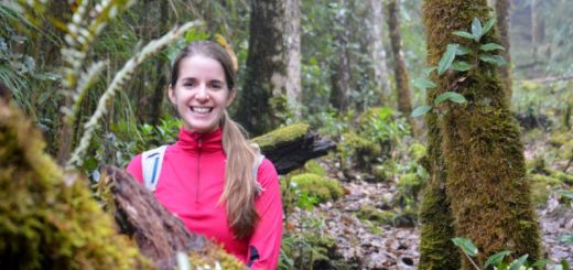 Jenn deep in the cloud forest in Costa Rica