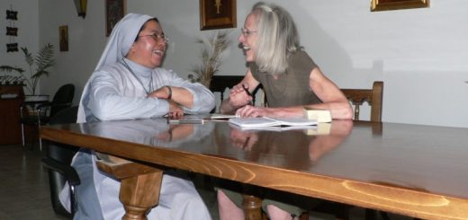 Miriam with a nun