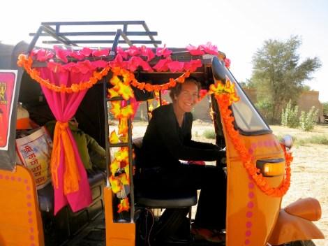 Kim in Rickshaw