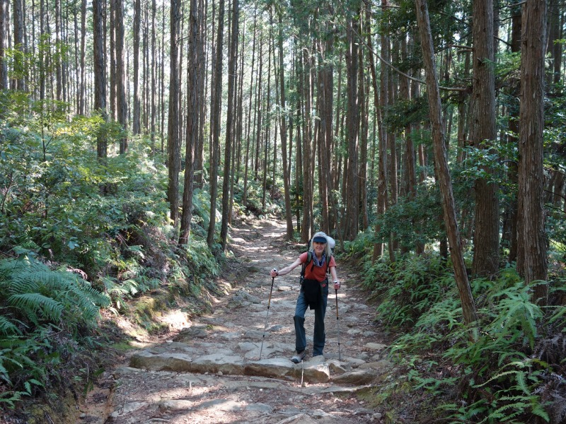 Miriam on Kumano Kodo