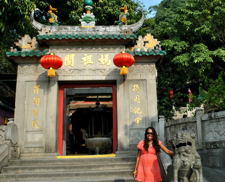 Rosalind at A Ma Temple in Macau