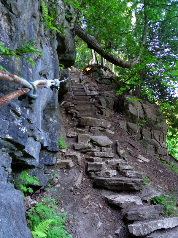 Devil's pulpit staircase