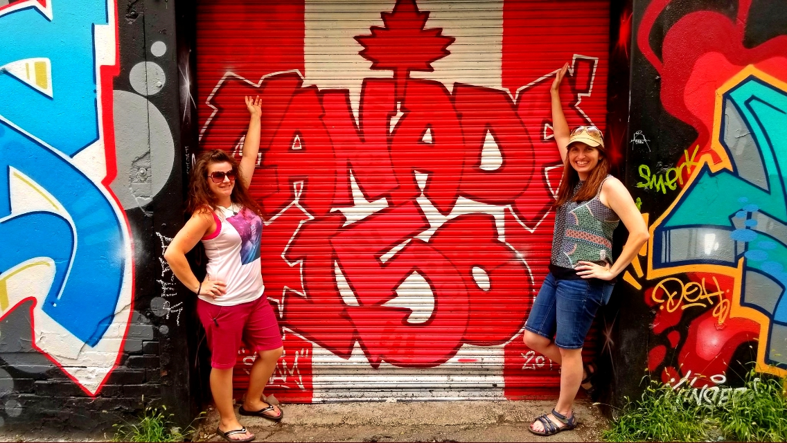 Cathy and I in Graffiti Alley