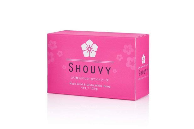Shouvy-Kojic-Acid-and-Glutathione-Whitening-Bleaching-Soap صابون تفتيح البشرة