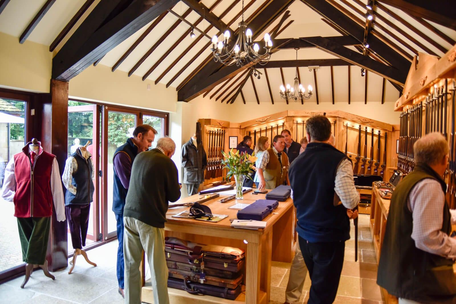 Customers browsing the Sportarm at Lady's Wood gun shop