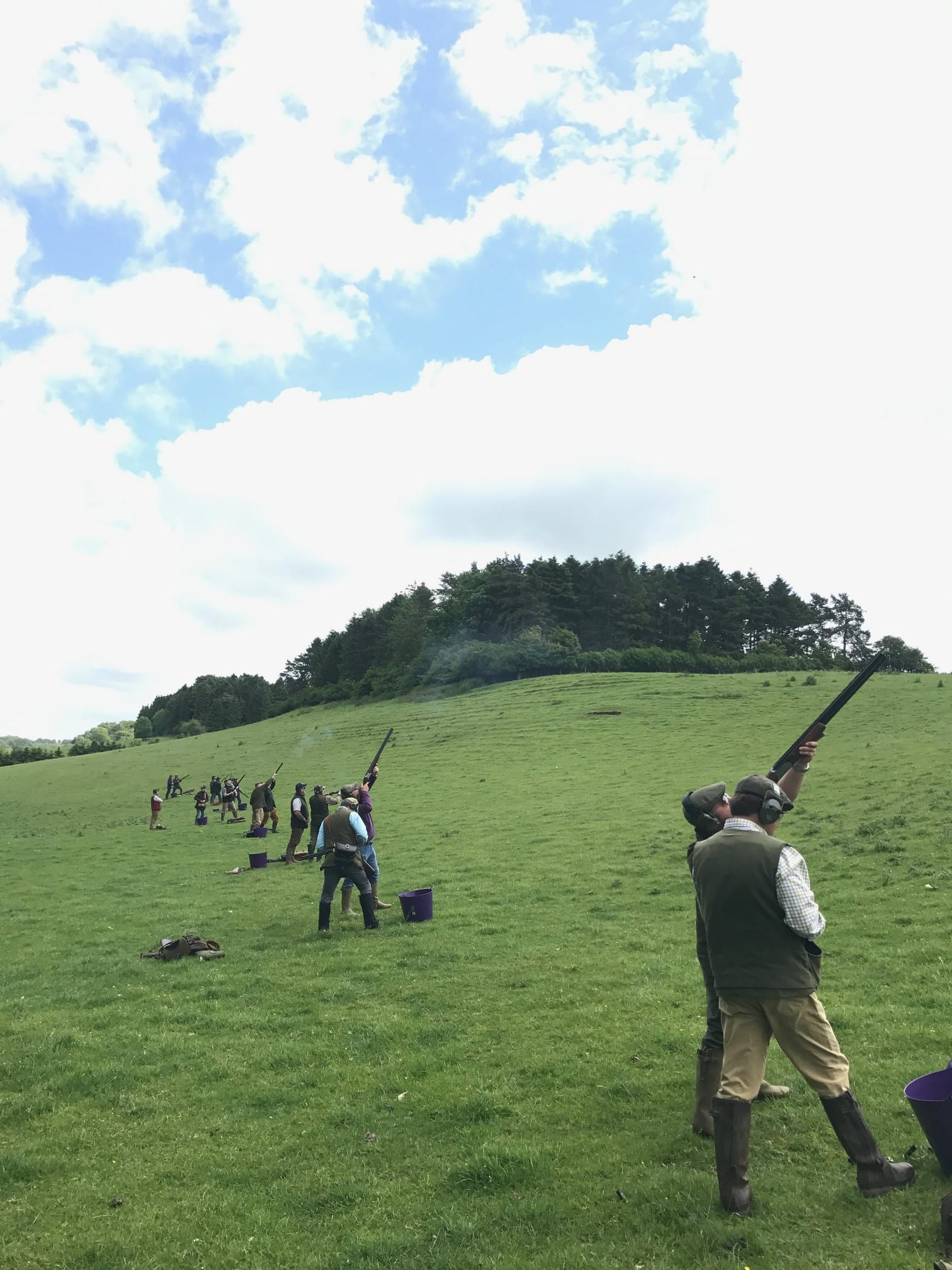 Simulated shooting at Chavenage Estate with Lady's Wood Sporting Agency