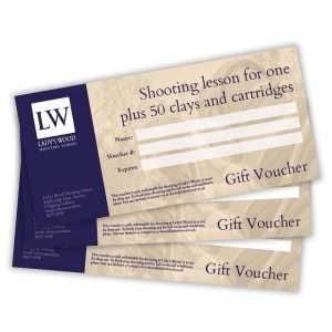 Shooting lesson for one with 50 clays and cartridges gift voucher redeemable at Lady's Wood Shooting School near Bristol