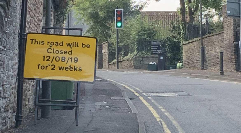 Road closure Wickwar