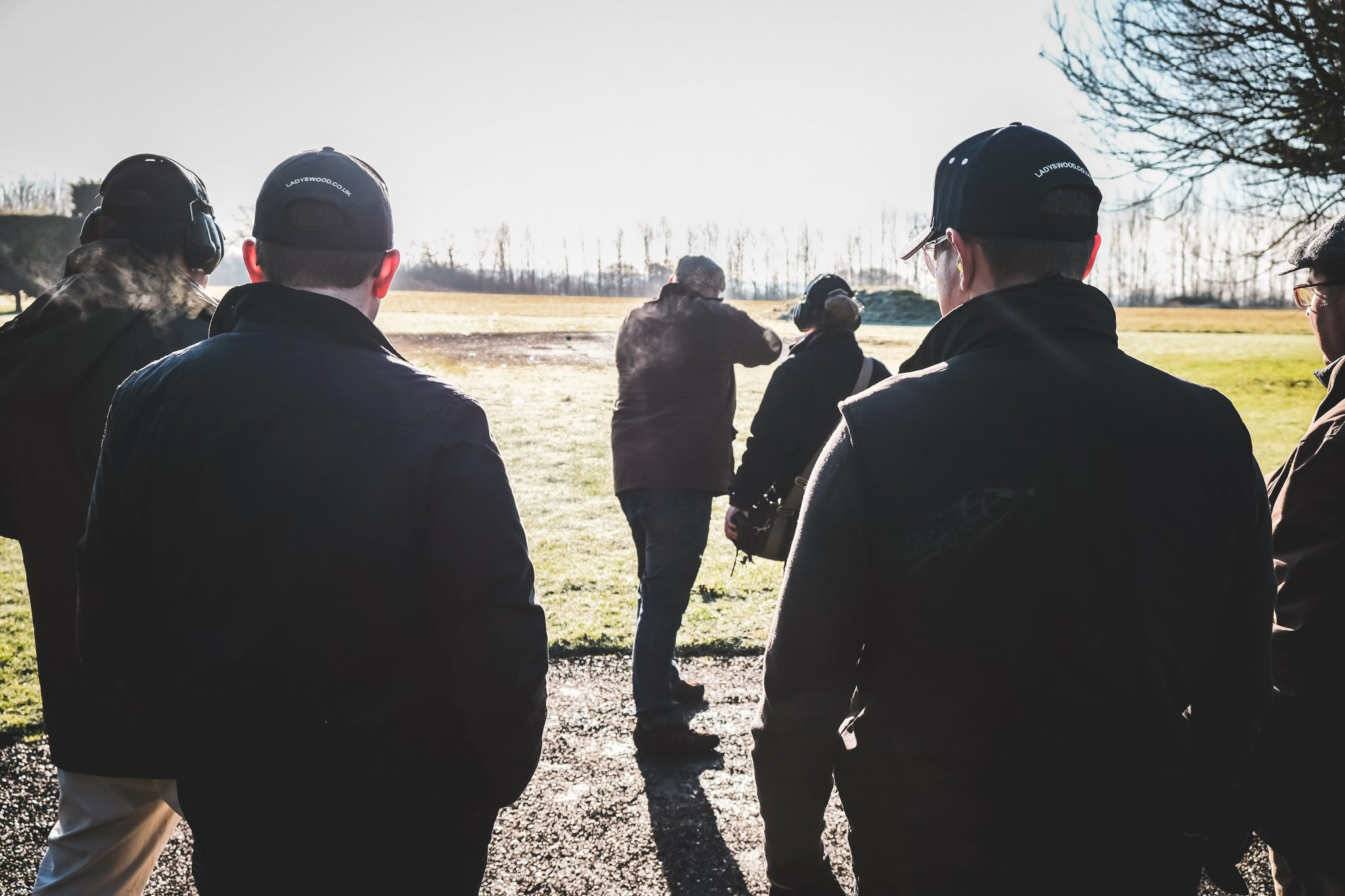 Stag party shoot rabbit layout at Lady's Wood Shooting School