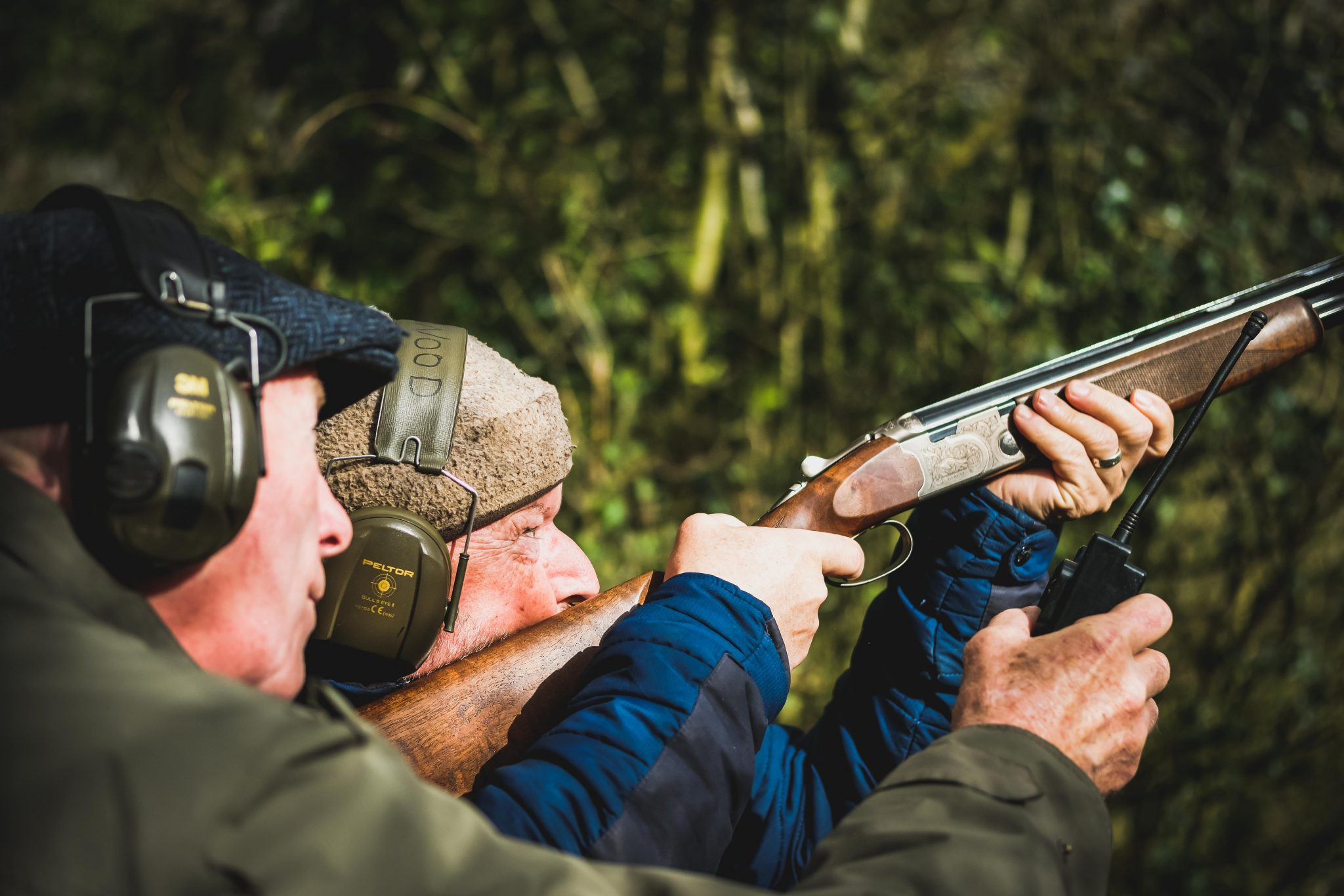 A Beretta in use during a shooting lesson at Lady's Wood Shooting School