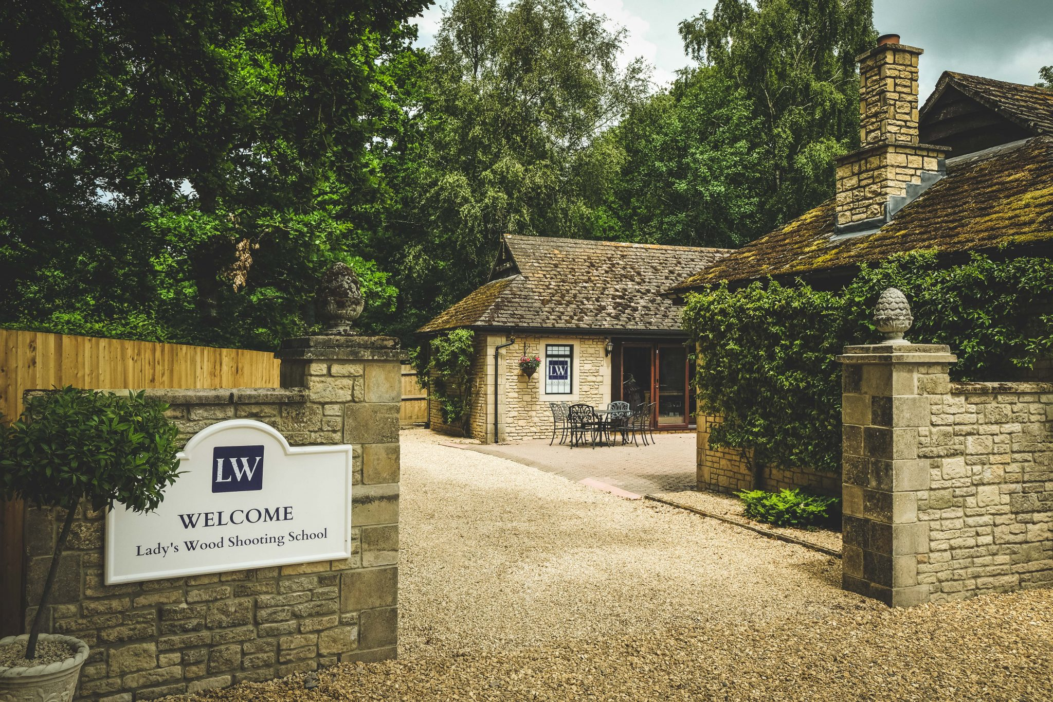 New entrance at Lady's Wood Shooting School