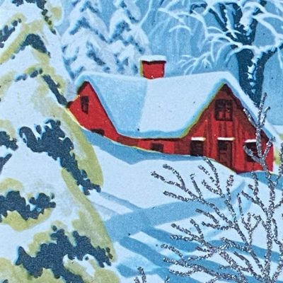 Vintage Christmas Cards for a more Charming, Greener Christmas